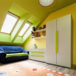 Urban apartment - colorful room on the attic